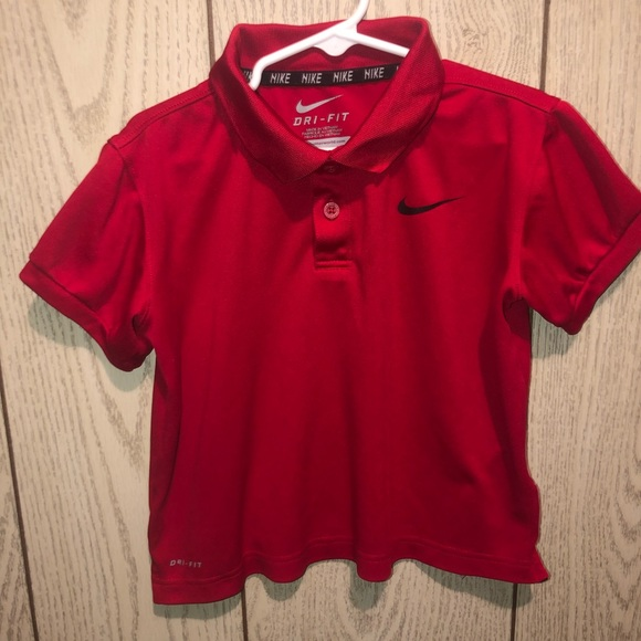 Nike Other - Red Nike drift polo shirt 6M